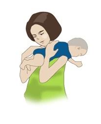 아기 트림 시키는 법 2번